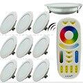 10 pcs X 12 W LED Downlight Dimmable Mi luz 220 V 240 V RGB + CCT interior do Quarto Da Cama Da Cozinha + 1X2.4G Sem Fio RF Remoto controle