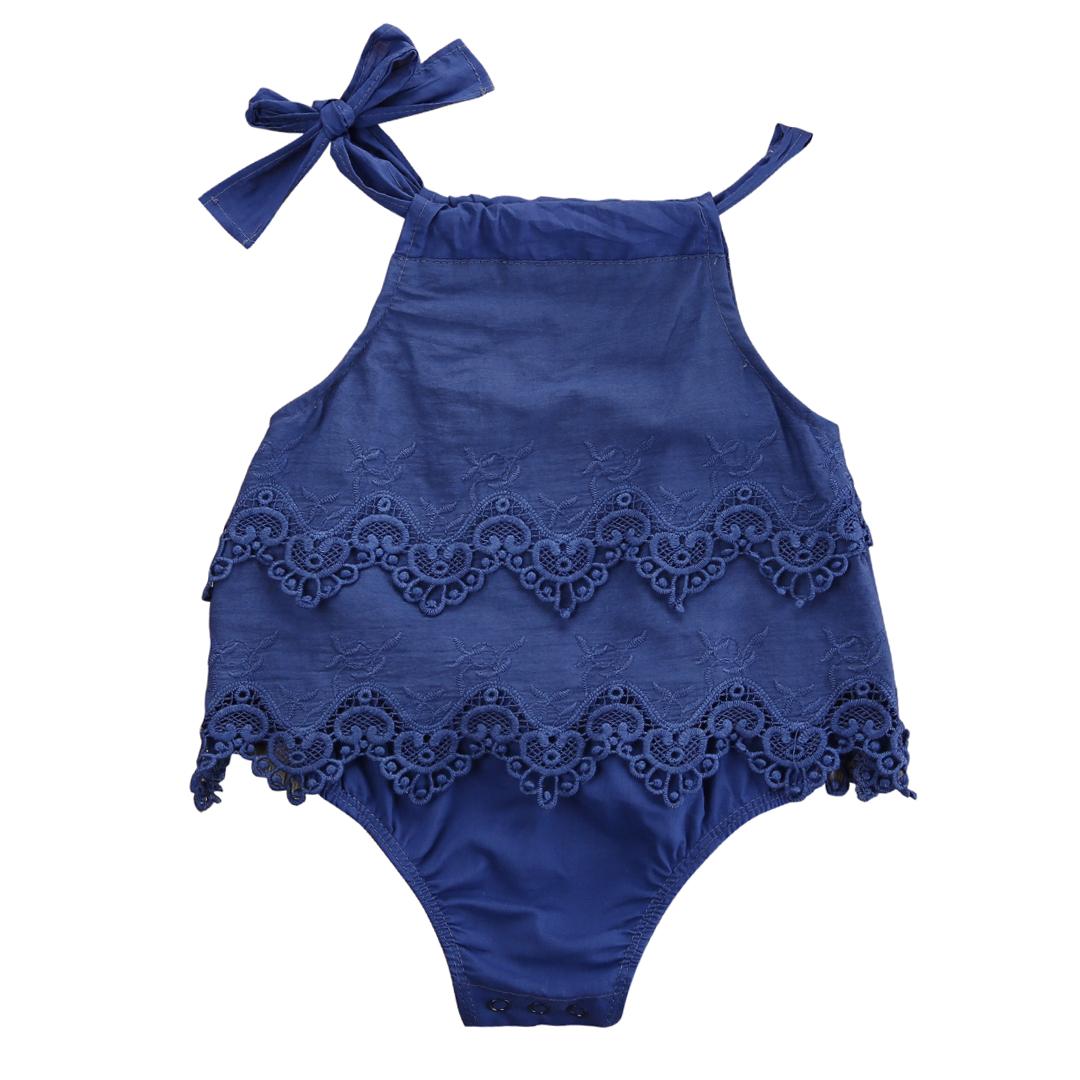 2017 Newborn Baby Girl Flower Lace Romper Jumpsuit Outfits One-Pieces Clothes 2017 cute newborn baby girl floral romper summer toddler kids jumpsuit outfits sunsuit one pieces baby clothes