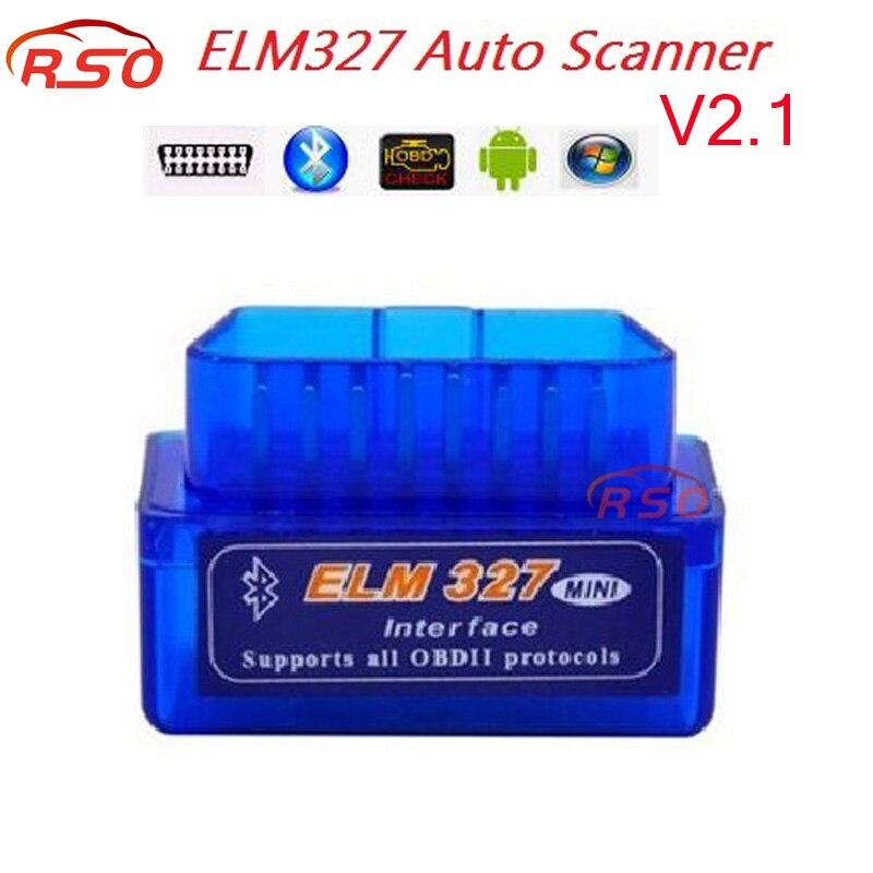 2 1 Version high quality Mini ELM327 Bluetooth V2 1 OBD2 Auto Diagnostic Scanner Tool ELM