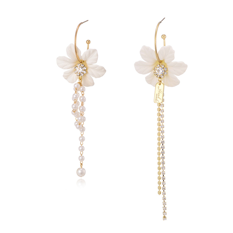 Modern Style Hanging Earrings For Women Sweet Flower Decorative Brincos Unmatched Long Dangler Quality Female Ear Jewelry