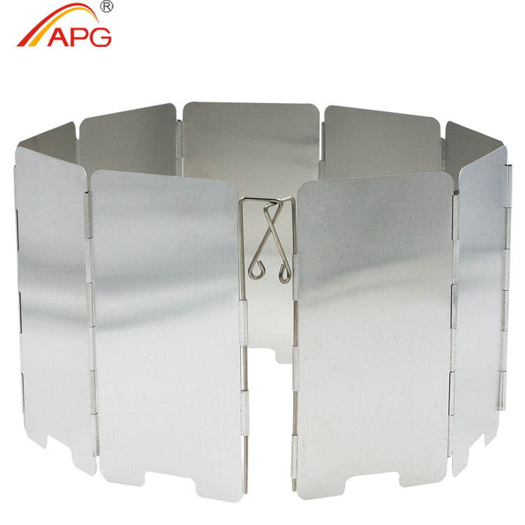 APG 9 plates outdoor Foldable Camping Stove Windshield Cookout Windbreak