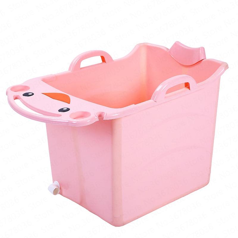 Grand bébé baignoire pliable enfant baignoire piscine baignoire pliante seau de bain pour adultes seau voyage baignoire enfants enfant Banho