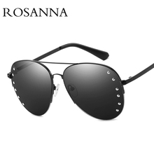ROSANNA Oversized Mirror Sunglasses Rimless Pilot Sun glasses Women Brand Designer Metal Rivets Sunglasses Men Driving Glasses поднос декоративный rosanna glasses
