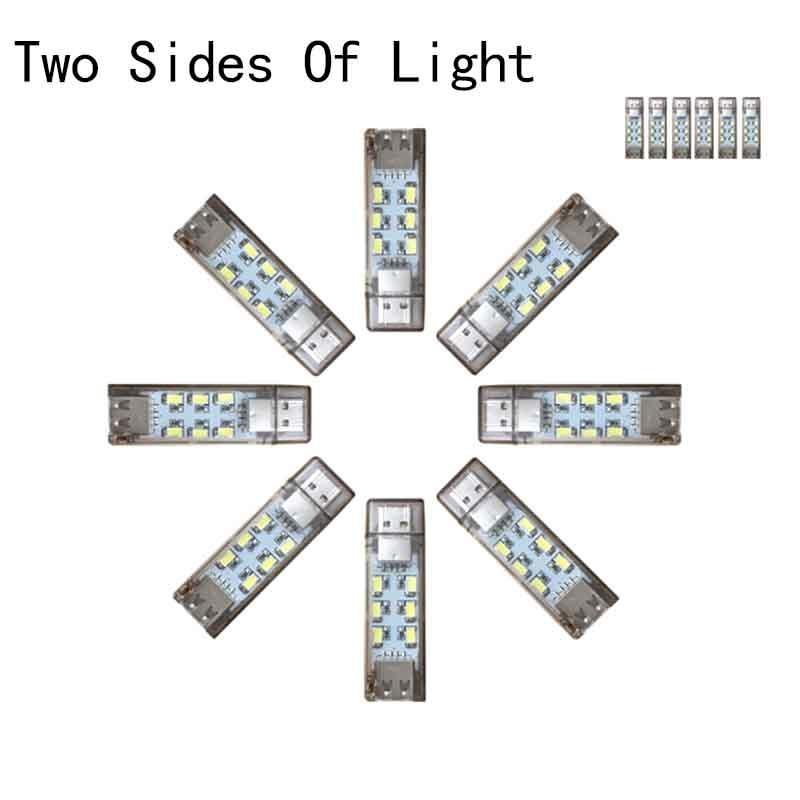 Mini design Portable USB LED Lamp LED flashlight powered by power bank PC Easy to using