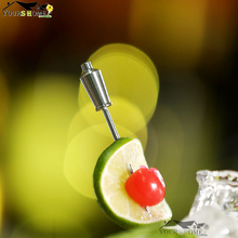 4 Pieces Shaker/Jigger Shape Stainless Steel Cocktail Pick Fruit Sticks Set of