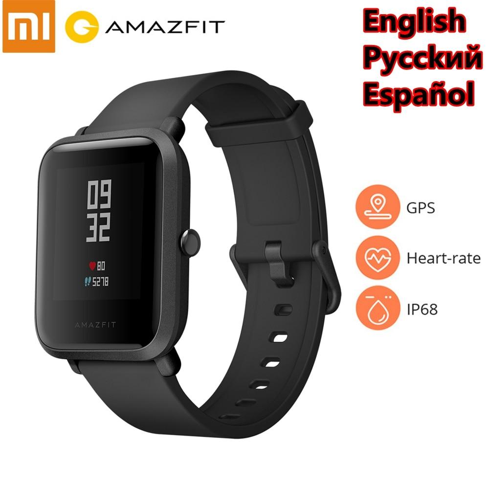 Original Xiaomi Amazfit Bip montre intelligente Tracker Fitness GPS SmartWatch IP68 étanche 45 jours vie de la batterie moniteur de fréquence cardiaque