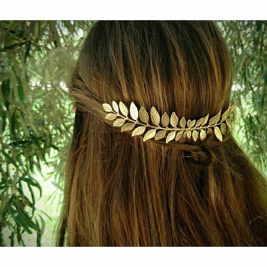 New arrival Chic hairpin Women Vintage Goddess Olive Leaf Headband Headdress Hair Band Crown Wedding