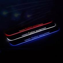 De encargo FRESCO! Accesorios del coche LED de la Placa Del Desgaste Del Travesaño de La Puerta tira de la decoración del estilo del coche PARA Volkswagen vw Lavida escarabajo y Cruz