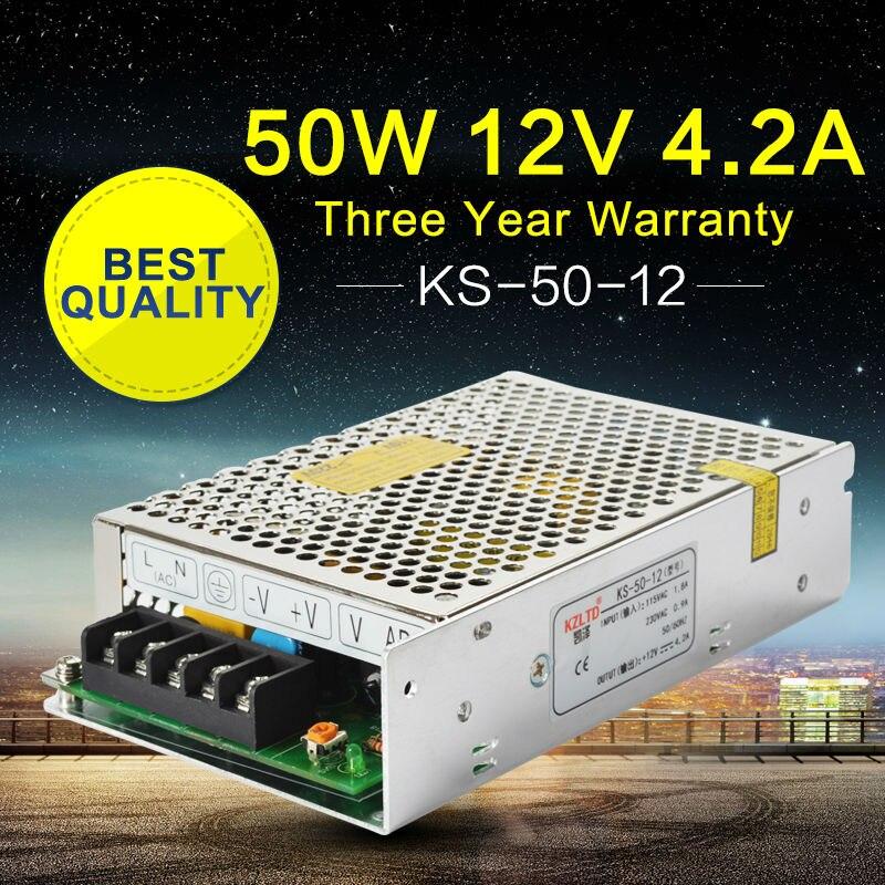 13b7f9dbd 220 a 12 V fuente de alimentación DC LED convertidor 12 V 50 W ajustable  Fuentes de alimentación conmutada para CCTV Radios módulo LED luz videcam
