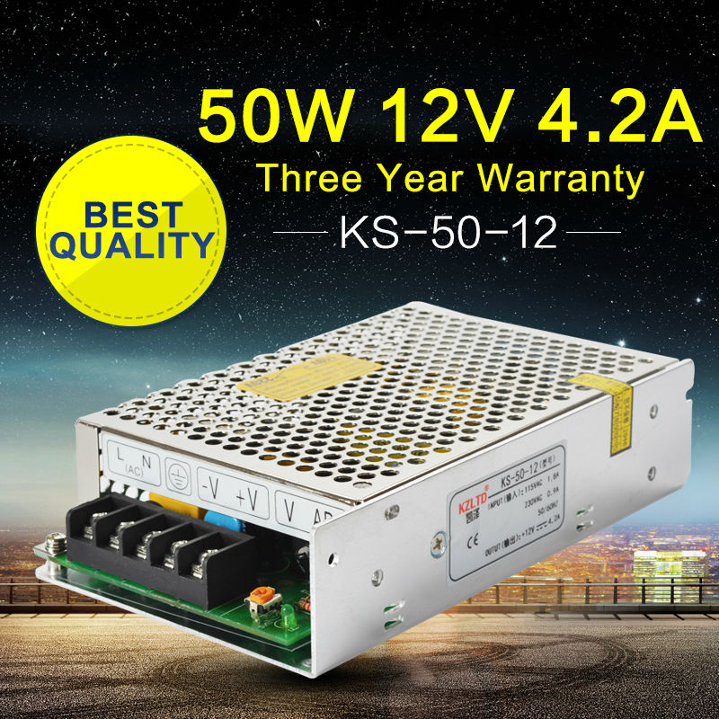 220 to 12V DC Power Supply <font><b>LED</b></font> Converter 12V <font><b>50W</b></font> Adjustable Switching Power Supply for CCTV Radio <font><b>LED</b></font> <font><b>Module</b></font> light Videcam
