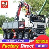 Лепин 2793 техника серии 20005 шт. Arocs грузовик модель здания Конструкторы Кирпичи Классические игрушки Совместимость с 42043 для обувь мальчико