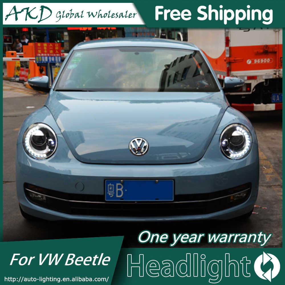 hight resolution of  akd car styling headlight assembly for 2013 2018 vw beetle headlights bi xenon led headlight