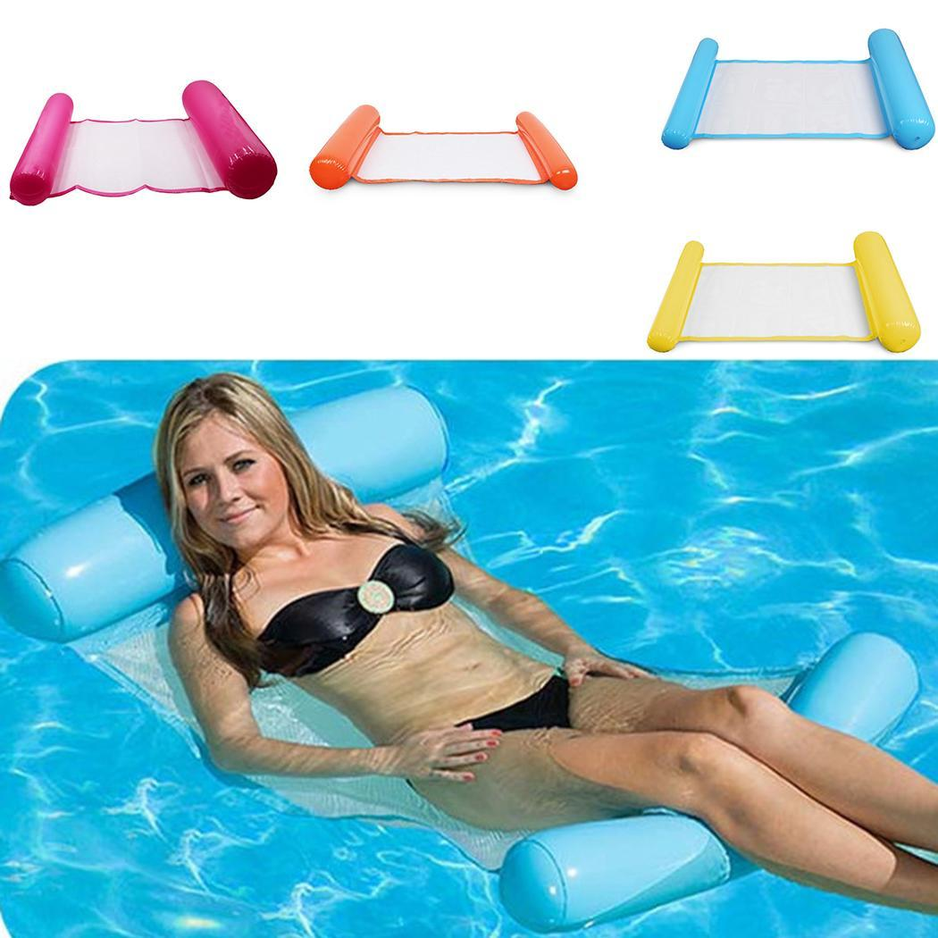 US $8.32 28% OFF|Water Lounger Hammock Pool Float Inflatable Rafts Swimming  Pool Air Lightweight Floating Chair Portable Swimming Pool Mat-in Pool & ...
