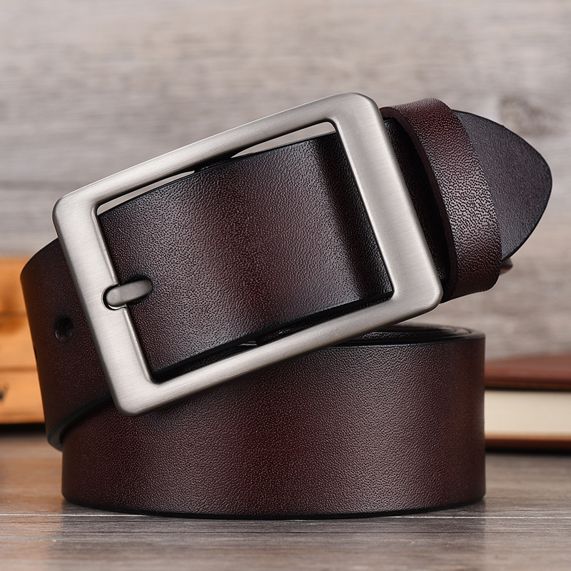 NO.ONEPAUL Men leather fashion business retro punk   belt     belt   alloy pin buckle men's leather youth jeans wild   belt   free shipping