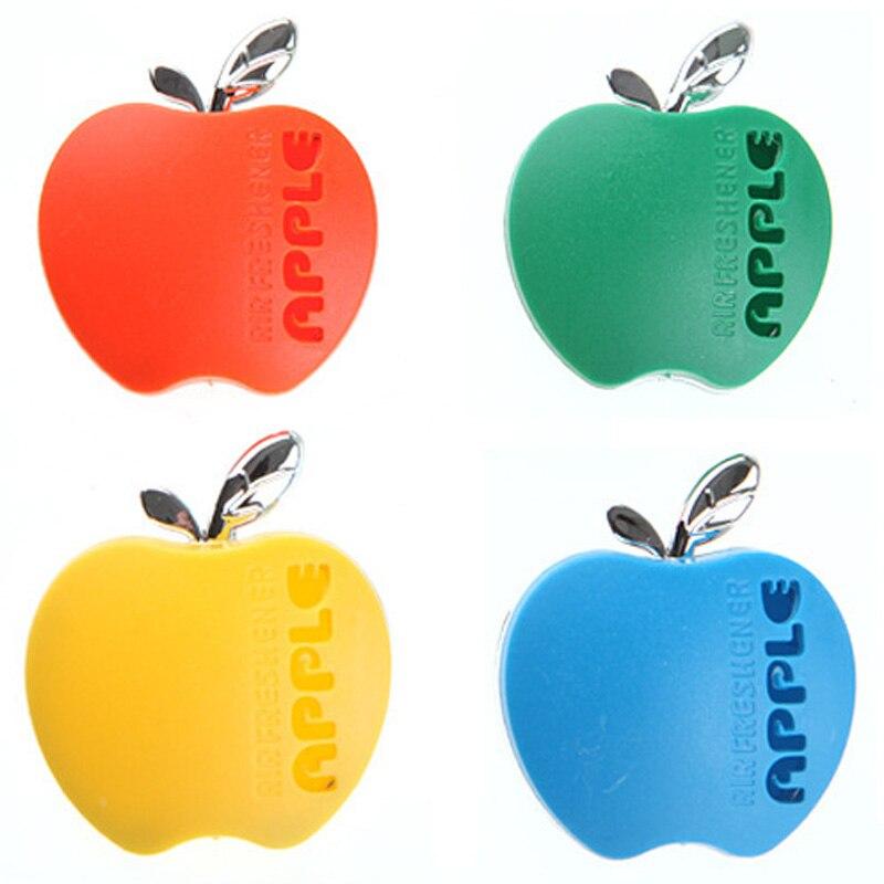Perfume de coche ambientador en forma de manzana fragancia Original naranja limón manzana fresa lavanda aroma accesorios de automóvil
