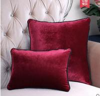 solid dark red/black/white/blue/purple cushion cover retro pillowcase sofa throw pillow cover home decor