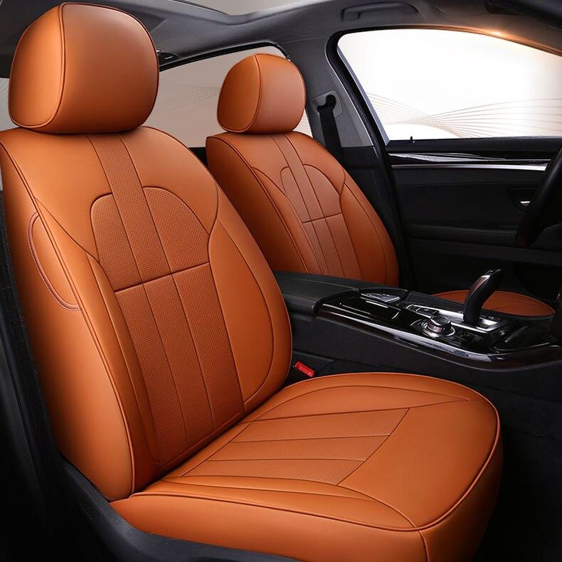 Personnalisé En Cuir de vachette couverture de siège de voiture pour Mercedes Benz Un B C Classe CLA CLK CLS ML GLA GLK GLE S E G accessoires car styling