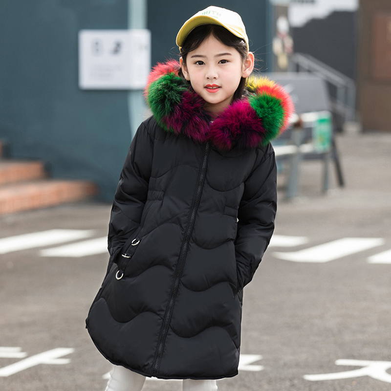 2018 Winter Girl's Down jackets coat long model BABY Girl warm Coats thick duck down Warm jacket Children Outerwear down coats 2018 cold winter warm thick baby child girl hoody long outerwear pink duck down