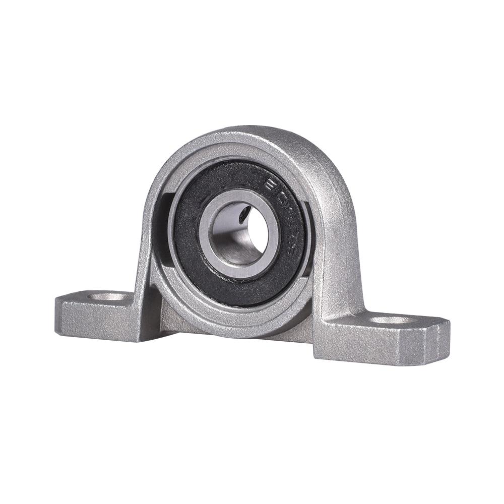 1PC/2PCS KP08 Lead Screw Support Diameter 8mm Zinc Alloy Bore Ball Bearing Pillow Block Mounted  For T8 Lead Screw Shaft Collar