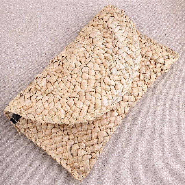 Handmade Rattan Bohemian Straw Bag Clutch Bag