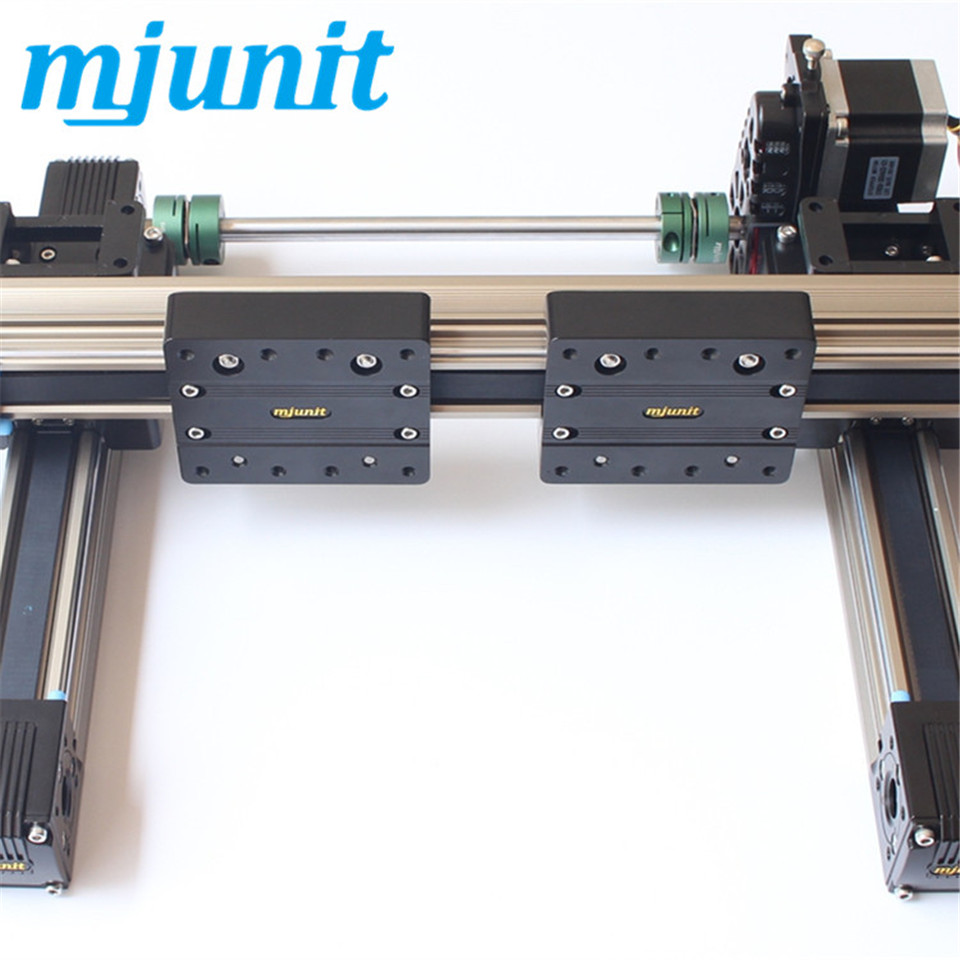 mjunit MJ45 Belt drive linear actuator with 350mm total length 4 rails for motor 57 a080877 noritsu qss3301 minilab roller substitute made of rubber