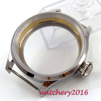 Polisehd 43mm sterile Watch CASE sapphire glass fit eat 6498 6497 movement