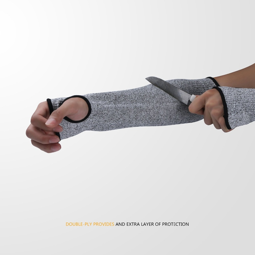 1pcs Safety Arm Sleeve Anti Cut Puncture Proof Guard Bracers Protector Sport Drive Work Arm Protective Safety Gloves
