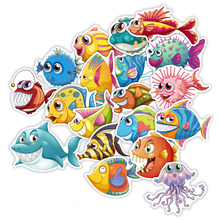 TD ZW 40 Pcs Lot Cute Cartoon Sea Fishes Stickers For Car Laptop Skateboard Pad Bicycle