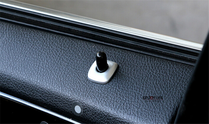 4pcs Car Door Lock Pin Pins Knob Button Trim Ring Decoration Cover ...