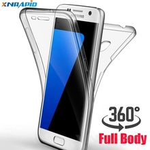 360degree soft transparent shell for samsung Galaxy A10 A20 A30 A40 A50 M10 front and rear all-body cover soft transparent shell