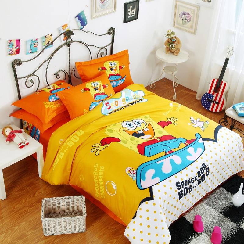 big hero 6 bedding set baymax 6 bed linen 100 cotton rective printing bedding housse de couette bed sheet new arrived bed cover queen size comforter sets - Spongebob Bedroom Set