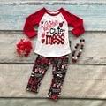 Ropa niñas bebés v-day V alentine lindo lío trajes con rojo amor pant niños boutique de ropa con accessoreis