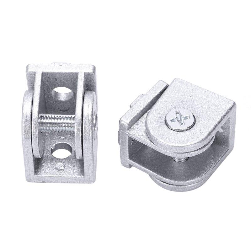 Conector de junta pivotante Flexible de aleación 2 unids/lote para perfil de extrusión de aluminio estándar de la UE 2020