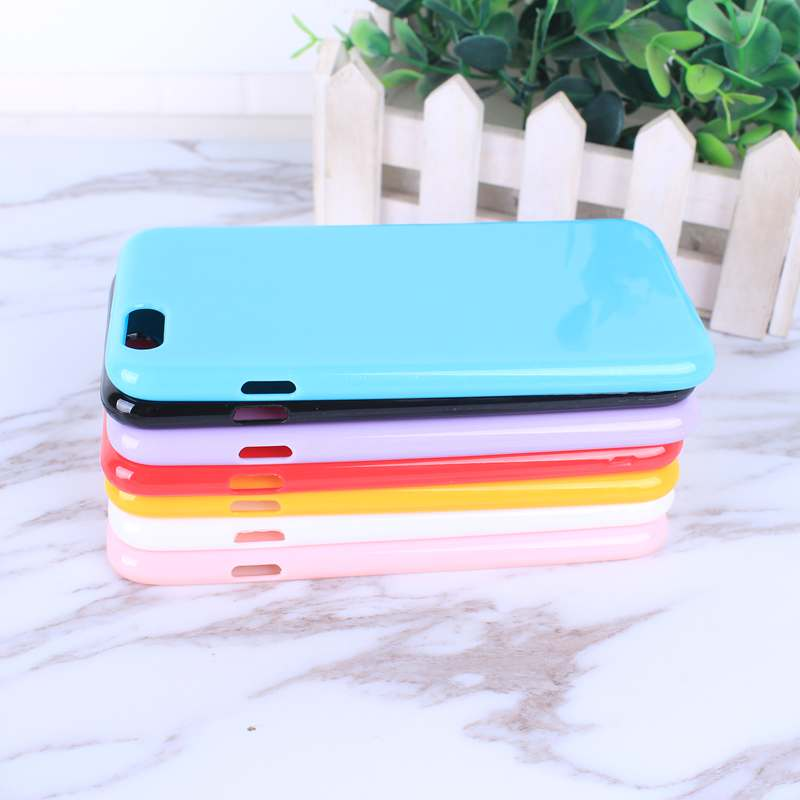 HTB1IwazoZjI8KJjSsppq6xbyVXal - FREE SHIPING Candy Color TPU Rubber Silicone Soft Gloss Phone Cases Back Cover For iPhone 6 6s 7 8 Plus 5 5s SE X JKP387