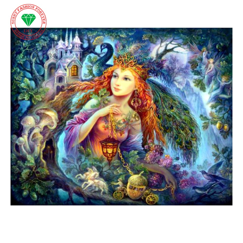 5D Diamond Embroidery Landscape Fairy Diamond Cross Stitch Square And Full Diamond Painting Set For Embroidery Stitch Rhinestone