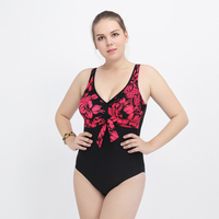 Plus Size Swimwear Women 2017 One Piece Swimsuit Large Size One piece Suits Super Female Beach Wear Bathing Suit Maillot