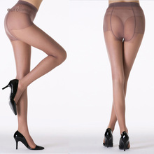 Compression Pantyhose Support Outdoor Thin Sheer Tights Two Seam Panel Butt Repeated Wears Transparent Sexy Mature