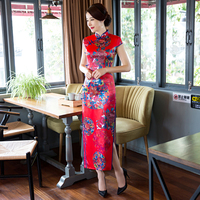 Shanghai Story Modern Cheongsams long qipao dress chinese traditional clothing oriental style dresses 3 Style