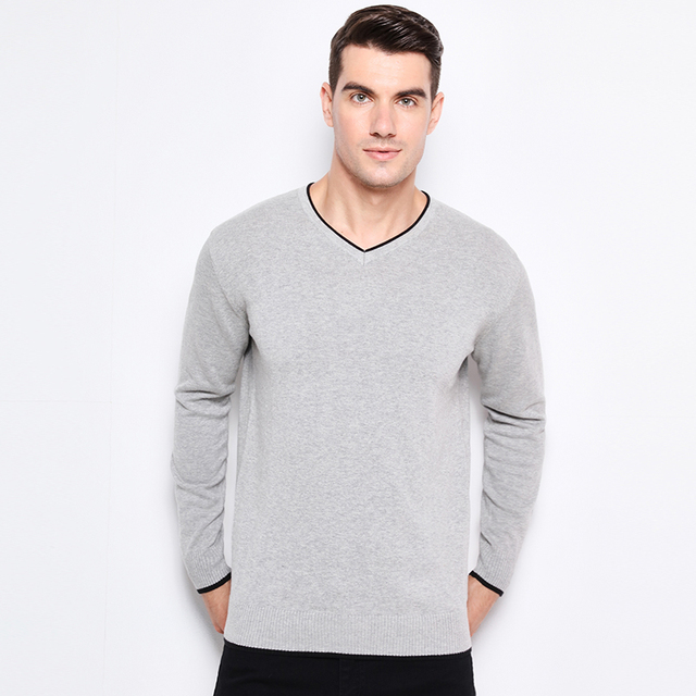 Clothing Pullover Mens Sweaters V-Neck  2