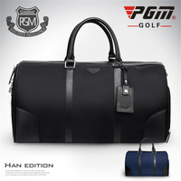 Pgm Outdoor Golf Clothing Bag Men's Nylon Travel Golf Handbags Double Layer Clothes Shoes Bag Portable Large Capacity Pack D0074