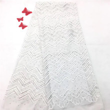 2018 Hot Selling French lace fabric for Wedding dress HX1146-1
