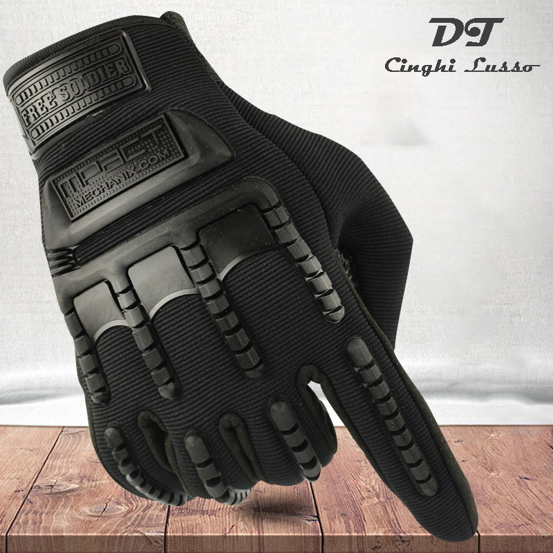 CINGHI LUSSO Cycling Gloves Long Full Finger Tactical Gloves Male Winter Men Glove Shooting Hunting Climbing Riding