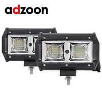ADZOON LED WORK LIGHT BAR FLOOD 5inch 54W 12V 24V CAR TRUCK SUV 4X4 4WD TRAILER WAGON PICKUP DRIVING LED LAMP