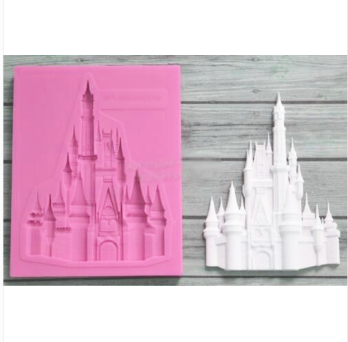 silicone fairy tale castle  church wedding christmas fondant cake decoration mold diy chocolate