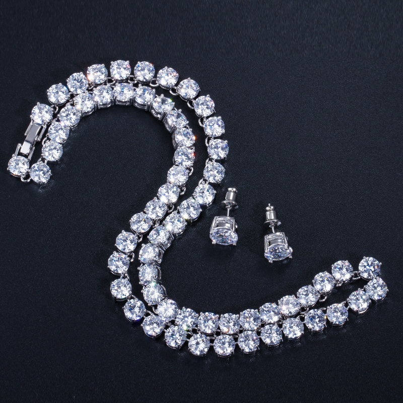 Pera sjajna 0,5 karatna velika okrugla američka kubna cirkonija - Modni nakit - Foto 4