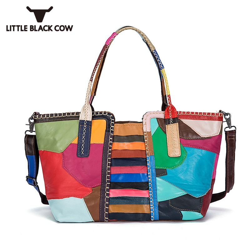 все цены на Brand Fashion Colorful Knit Women Bag High Quality Leather Tote Handbag Ladies Casual Patchwork Big Capaticy Weave Shoulder Bags