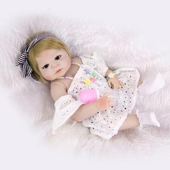 57cm 23'' Newborn Doll real reborn Full Silicone Vinyl Body Reborn Dolls Baby lol princess kids bathe girl doll for sale