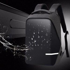 Image 1 - حقائب الظهر الرجال قسط مكافحة سرقة محمول مدرسة السفر حقيبة ظهر مضادة للماء مع منفذ USB