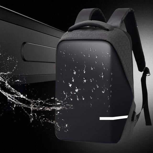 กระเป๋าเป้สะพายหลังผู้ชาย PREMIUM Anti Theft โรงเรียนแล็ปท็อปกระเป๋าเป้สะพายหลังกันน้ำ USB Port