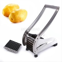Brand New Stainless Steel French Home Fry Fries Potato Chips Strip Cutting Cutter Machine Maker Slicer Chopper Dicer + 2 Blades